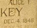Alice T Hawkins Mulkey's Gravestone- zoomed in