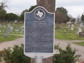 Historical Marker in Waxahachie Graveyard